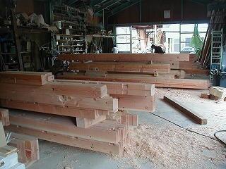 構造材の加工